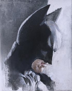 Batman Arcylic Painting by sebastiancheng
