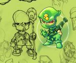 Green Ninja sketchybook by Red-J