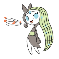 Fanart 09 Meloetta Singing by ElementalFurries