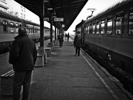 Train station in Belgrade by UrosKrunic