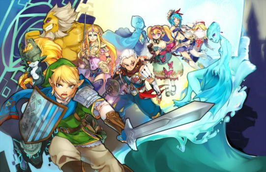 Hyrule Warriors by Girutea