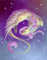 Dragon|flutter|shy by Alina-Sherl