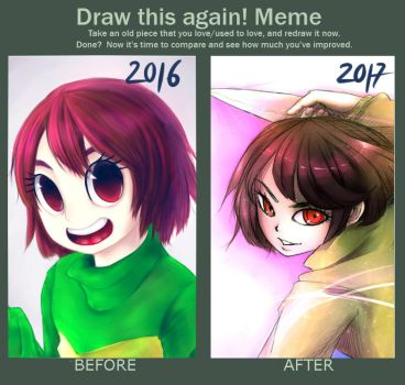 Draw this again: Chara by temmisen