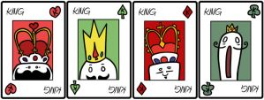 Playing cards - Kings by catiniata