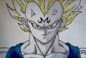 Majin Vegeta SSJ2 Deception by WatersDBZArt