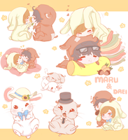 Hamster and Bunny by tori-ru
