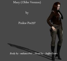Mary (Older Version) - OC - Mesh Mod - Download by Pinkie-Pie297