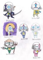 Dororo's seven personalities by evilbackpackgirl