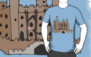 The tower of London doodle T-shirt by zozzy-zebra