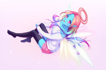 Commission - Cotton-candy angel [Speedpaint] by Hyanna-Natsu