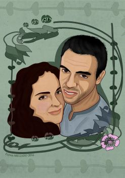 Commission Inma and Javi vector portrait by hnl