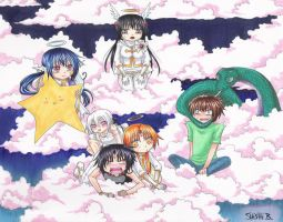 Chibis in the Sky by Shishi-The-Lozer