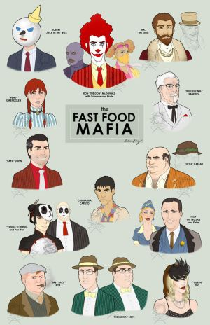 Fast Food Mafia sticker