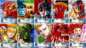 10 DC new 52 sketchcards by gammaknight