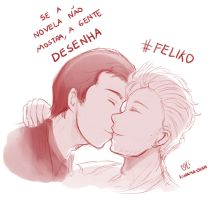 -- Feliko : We want a Kiss -- by Kurama-chan