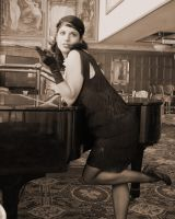 1920's flapper girl by marsattack