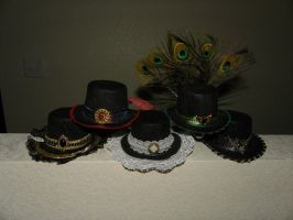 Mini top hats by starlit-creations