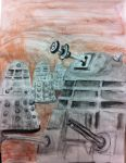 Dalek Drawing - FallCon 2013 by Skeleton-Boy