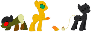 Robot Pony E.G.Gs: Batch 2 HATCHED by Literate-Adopts
