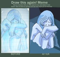 Draw This Again Meme-me by BlueRosePetalsQueen
