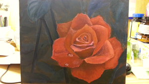 Rose painting practice by BlissfulMelody