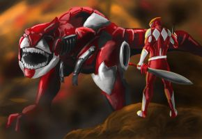 Red Ranger by goldenmurals