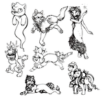 First sketches of 500 sketches by SheriBonBon