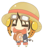 LUFFY OMNOMNOMING by mycatpaw