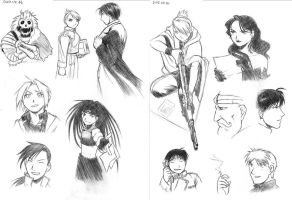 FMA Volume 9 sketches by Amarevia