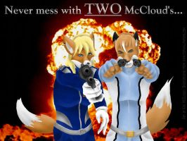 Never mess with TWO McCloud's by KikiMcCloud