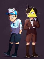TF2 and Gravity Falls by biggreenpepper