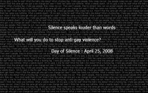Day of Silence '08 by Mercedesm1
