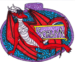 Stained Glass Style Fullbody Badge: Sorwyn by talakestreal