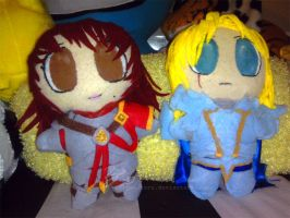 SC IV Siegfried and Hilde Plushies by enigma-toru