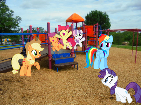 Playing With the CMCs on the Playground by Eli-J-Brony