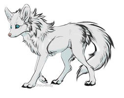 Snow Wolf Adoptable OPEN by Blacksheep28