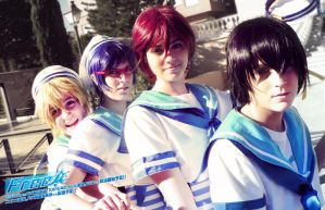 Cosplay grupal Free! 03 by Sparkly-Monster