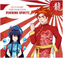 Let's start this year with BURNING SPIRIT! by Sacchii