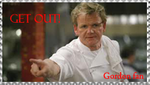 Gordon Ramsay fan stamp by VegetasLittleLover