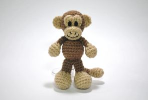 Little BigFoot Monkey by craftyhanako