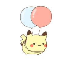 floating pikachu by MinjiXMuu-chan
