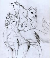 Fantasy Wolves by ZacharyWolf