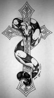 Boa on a Cross by mrinx