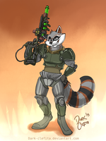 Iron artist - Joleii Raccoon  001 by Dark-Clefita