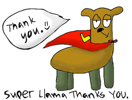 THANKS FOR THE SUPER LLAMA by slim58