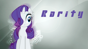 Rarity 'Flower and Minimalistic' Wallpaper by BlueDragonHans