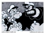Popeye vs Bluto by StudioBueno