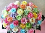 Colorful-Rose-Bouquet for VIN by ananyaroy