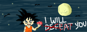 Goku zombie will eat you by hellohappycrafts