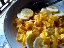 cereal and banana by plainordinary1